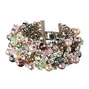 helline-Bracelet-en-metal-et-pierres-de-verre-multicolores