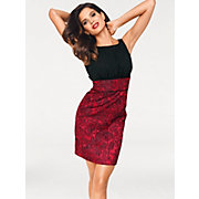 Ashley-Brooke-Robe-de-cocktail-glamour-sans-manches-en-tissu-Jacquard