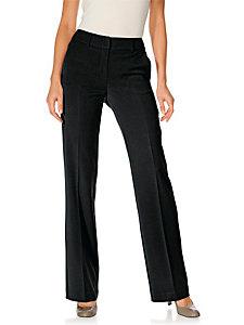 Pantalon de tailleur uni extensible, forme bootcut