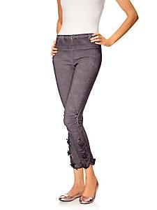 Legging femme à taille élastiquée, base effet froissé