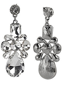 Boucles d'oreilles pendantes chics en pierres de verre