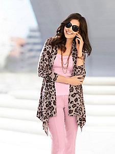 Gilet en tricot fluide imprimé léopard
