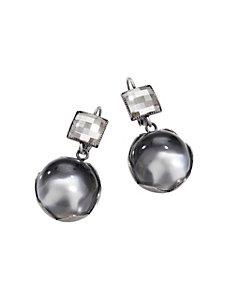 Boucles d'oreilles pendantes chics, pierres Swarovski