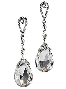 Boucles d'oreilles pendantes chics, pierres fantaisie