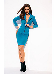 Veste blazer femme, col à revers, forme ajustée