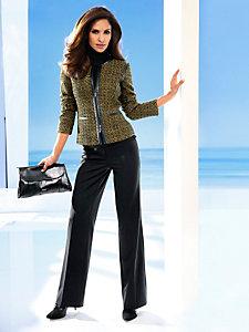 Pantalon habillé coupe ample à pinces pour femme