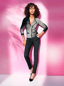 Veste tendance pour femme avec coutures galbantes