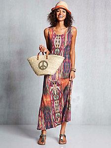 Robe d'été longue imprimé multicolore original
