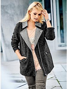 Veste en laine à fermeture zippée, col étalé