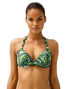 Bikini 2 pièces à motif tropical et bonnets à armatures