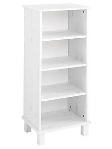 Petite étagère simple en épicéa, 4 niches