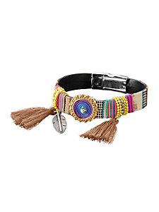 Bracelet tendance coloré à breloques, fermoir aimanté