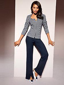 Pantalon uni fluide et ample, style féminin et élégant