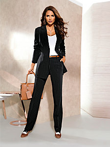 Veste de tailleur, rayures classiques, coupe ajustée