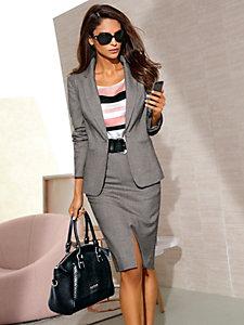 Veste de tailleur classique femme, gris chiné