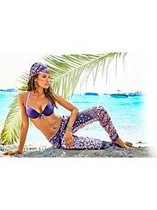 Pantalon femme à imprimé tendance, taille élastiquée