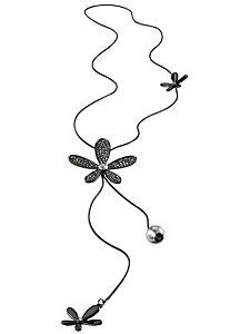 Sautoir fleur tendance avec pierres et perles
