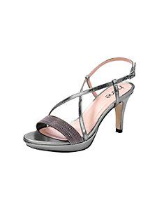 Sandales compensées à talons hauts et brides