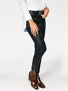 Pantalon slim métallisé femme, marquage serpent moderne