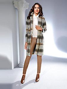 Pantalon en cuir uni femme, coupe slim et taille basse