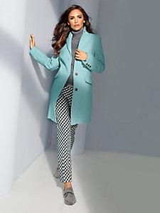 Manteau caban en laine mi-long couleur pastel