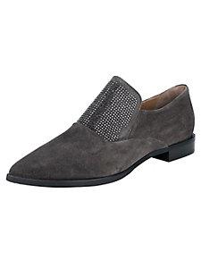 Chaussures de ville en cuir velours et strass brillants