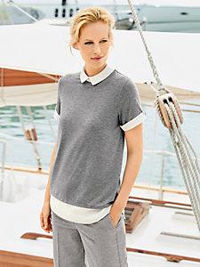 T-shirt original à col et manches style chemisier