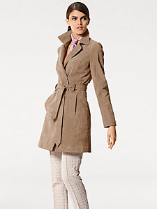 Manteau en cuir porc velours
