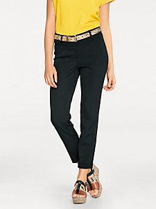Pantalon droit taille haute femme, coupe confortable