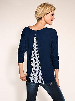 T-shirt femme à dos en voile imprimé à pois