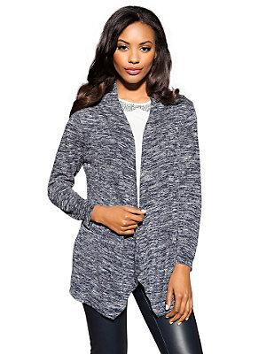 Gilet ample en tricot fin et à col cascade tendance
