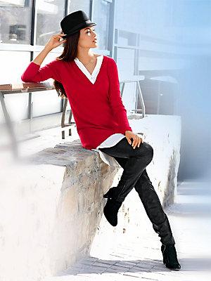 Jeggings femme stretch tendance aspect velours brillant