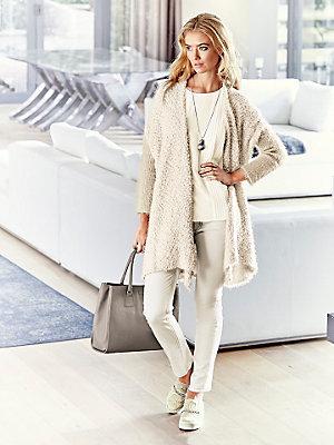 Cardigan long en tricot épais, effet boulotté tendance