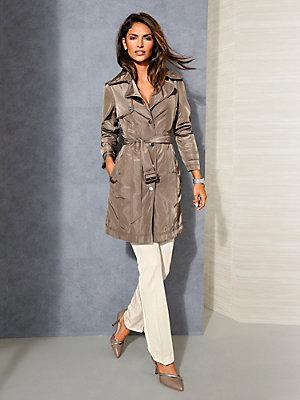 Trench-coat tendance femme, boutons et ceinture à nouer