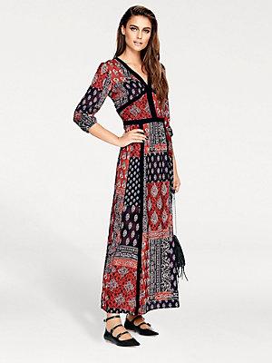Robe longue tendance et imprimée à motifs cachemire