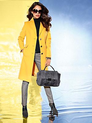 Pantalon slim imprimé femme à ceinture contrastante