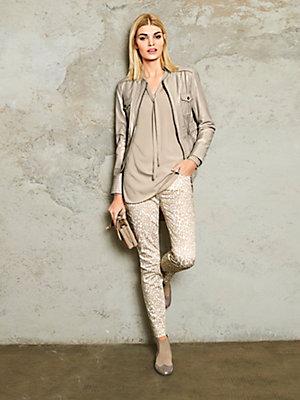 Veste en cuir courte élégante femme, à poches poitrine
