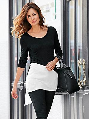 Pantalon stretch noir amincissant à poches zippées