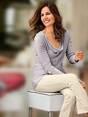 Pantalon femme élégant, coupe classique à pinces