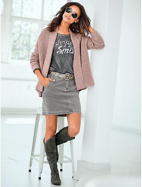 Gilet femme en tricot à grosse maille côtelée tendance