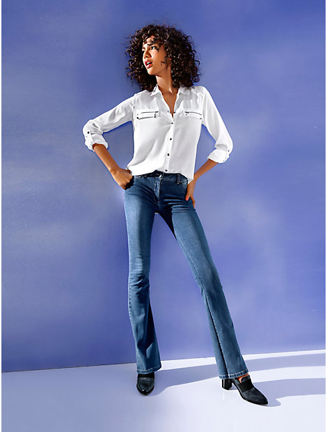 Jean push-up coupe bootcut effet amincissant