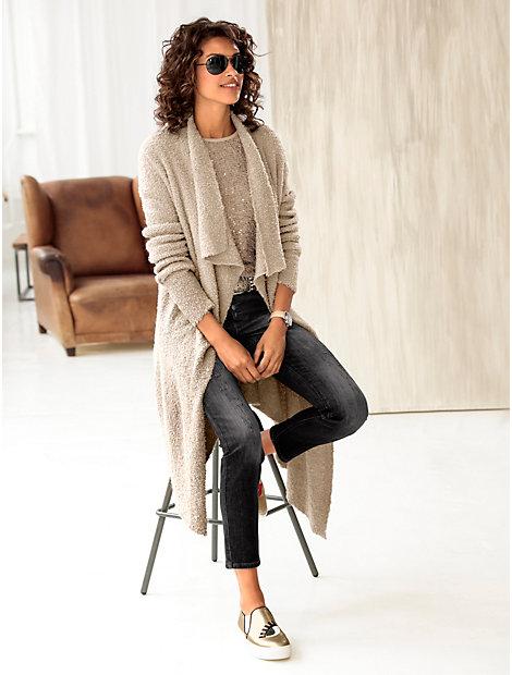 Gilet long en tricot