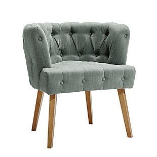 chaise avec assise haute capitonnage par bouton helline