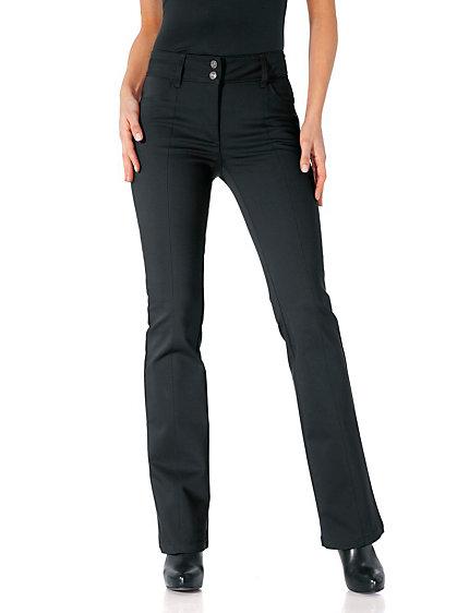 pantalon femme amincissant coupe bootcut tendance helline. Black Bedroom Furniture Sets. Home Design Ideas