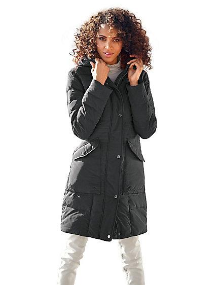manteau doudoune femme mi longue grandes poches helline. Black Bedroom Furniture Sets. Home Design Ideas