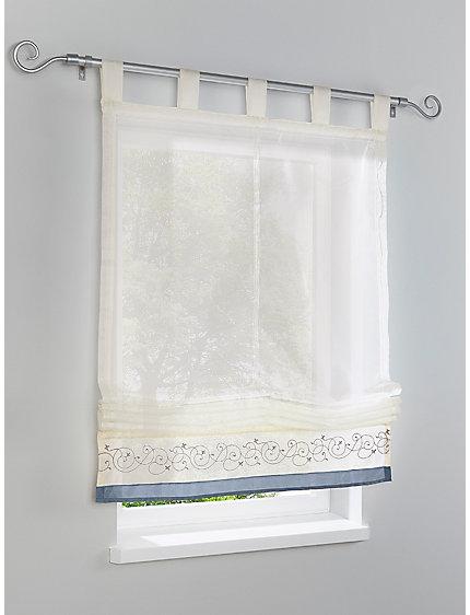 store bateau en tissu blanc bordure color e helline. Black Bedroom Furniture Sets. Home Design Ideas