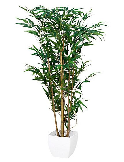 Bambou d coratif plante synth tique avec pot helline for Bambou synthetique exterieur