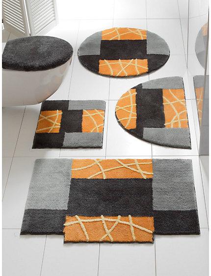 tapis de bain aux formes originales style cubisme helline. Black Bedroom Furniture Sets. Home Design Ideas