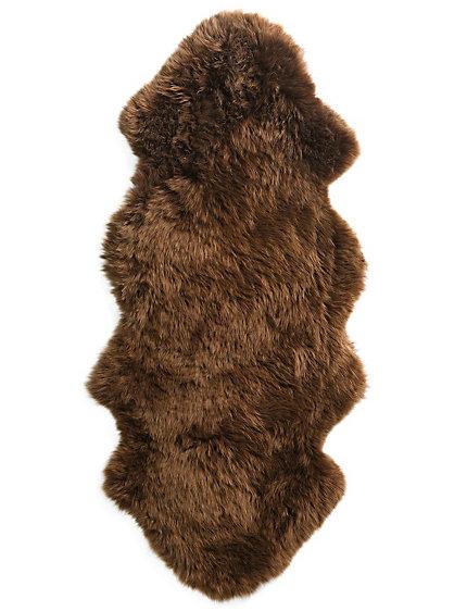 tapis en fourrure d 39 agneau v ritable fibres paisses. Black Bedroom Furniture Sets. Home Design Ideas