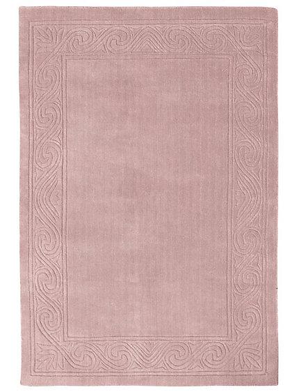 tapis grande taille en laine bords motifs en reliefs. Black Bedroom Furniture Sets. Home Design Ideas